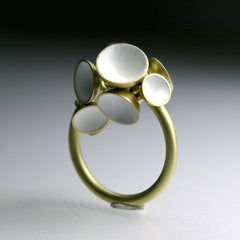 White Rattle Ring