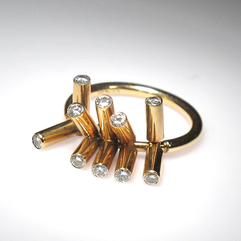 Rattle Ring With Diamonds