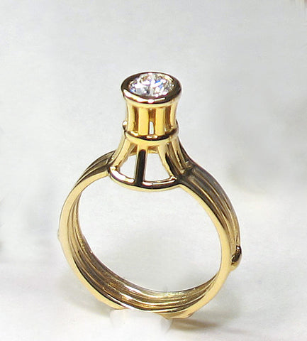 Cage Solitaire Ring