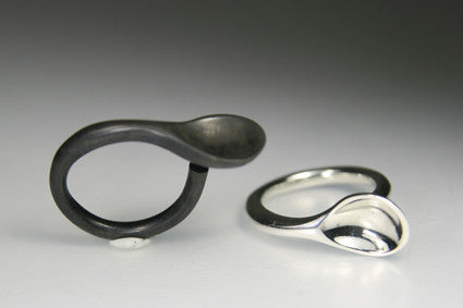 White Spoon Black Spoon Ring