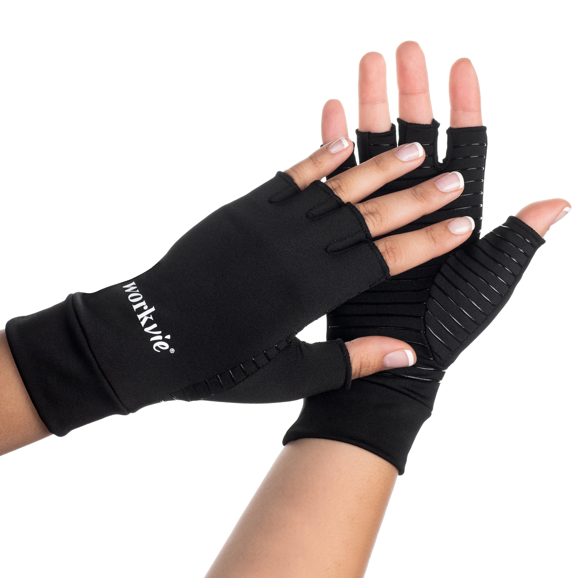 Hands with Workvie Copper Compression Gloves