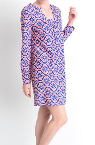 Cobalt Peach Bonita Dress