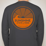 Sunshine State of Mind Long Sleeve Performance Tee - Dark Grey