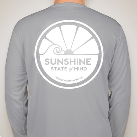 Sunshine State of Mind Long Sleeve Performance Tee - Grey