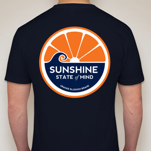 Sunshine State of Mind Tee - Navy