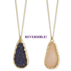 Reversible Long Pendant Necklace