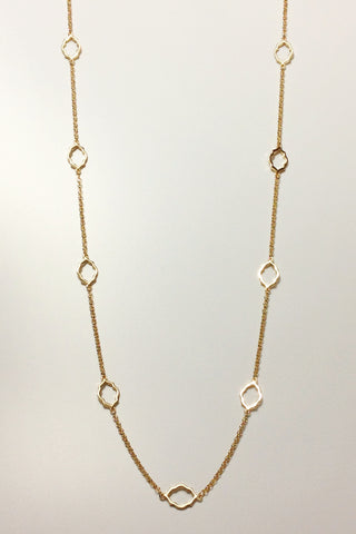 Classic Revival Motif Long Necklace