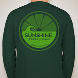 Sunshine State of Mind Long Sleeve Performance Tee - Green