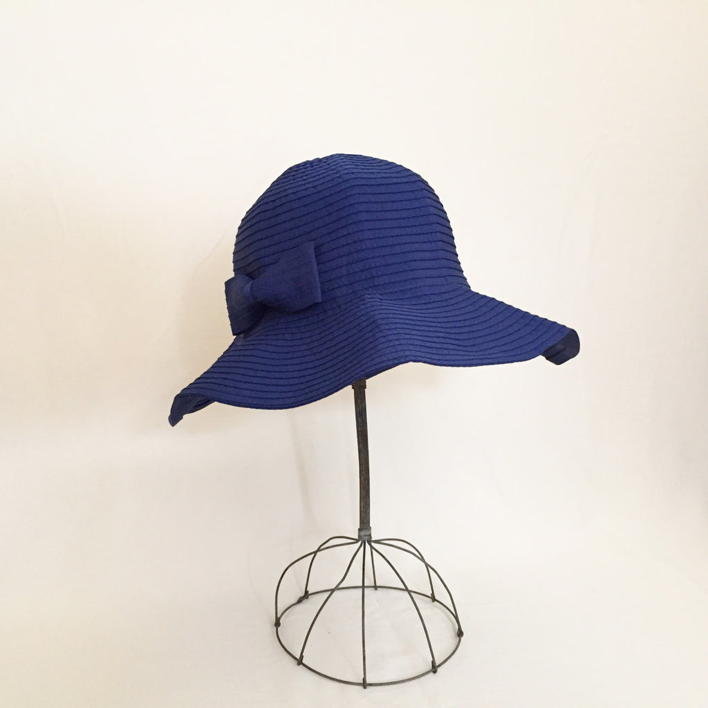 Tied with a Bow Navy Blue Sun Hat