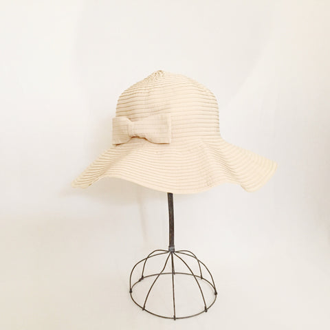 Tied with a Bow Sand Sun Hat
