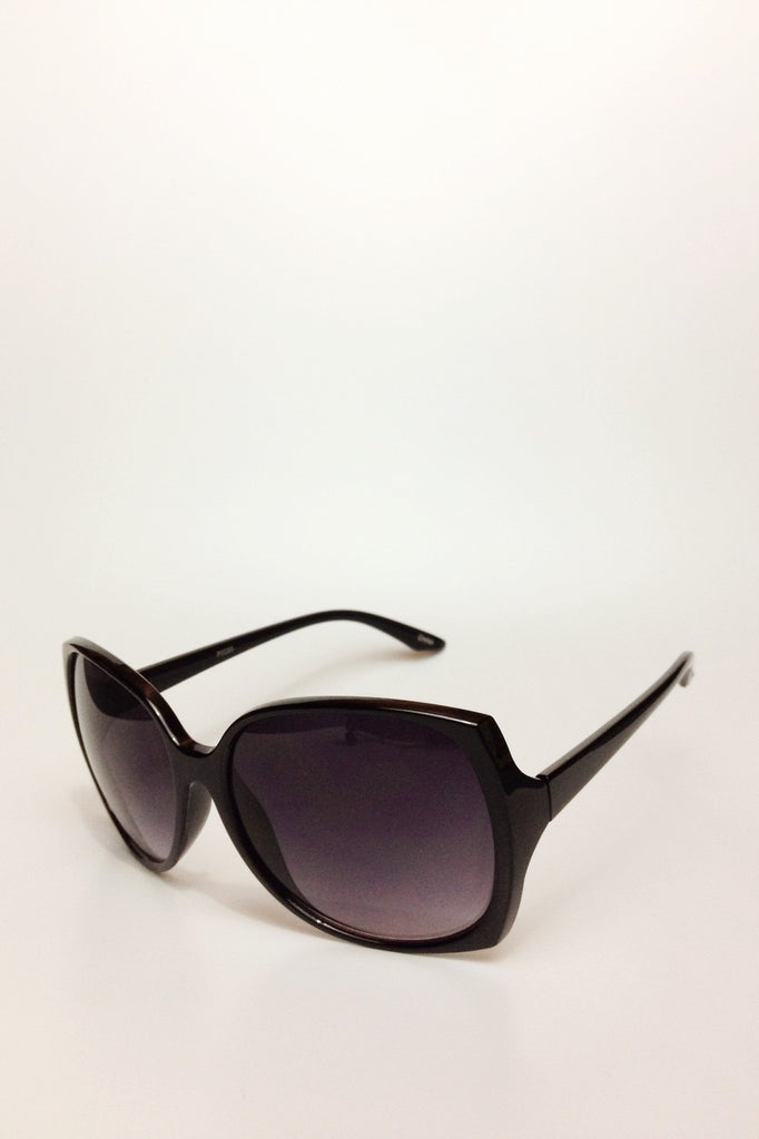 sunglasses oversized black frame gradient smoke lens