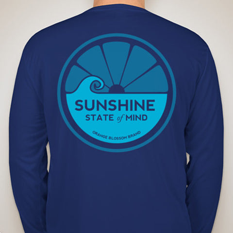 Sunshine State of Mind Long Sleeve Performance Tee - Royal