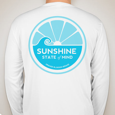 Sunshine State of Mind Long Sleeve Performance Tee - White