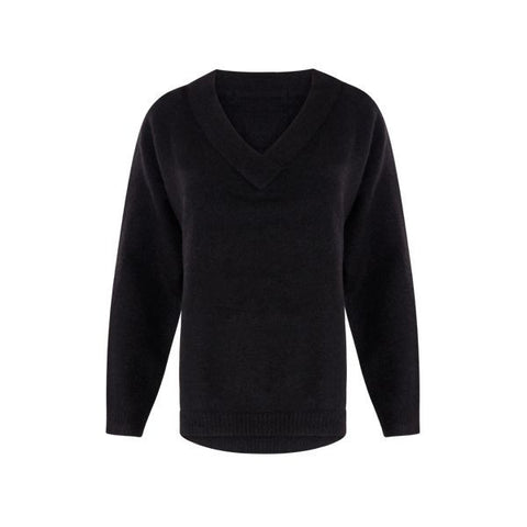 Coster Copenhagen Black Knit Mohair V-Neck Sweater