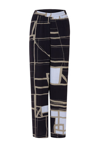 Coster Copenhagen Flared Square Print Trousers