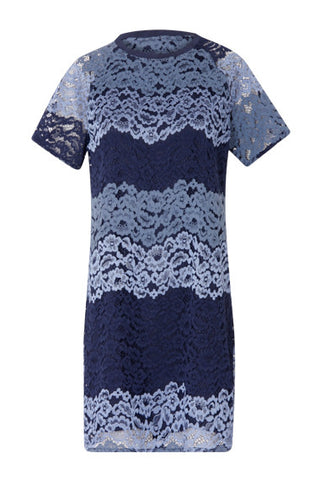 Coster Copenhagen Navy And Blue Lace Dress