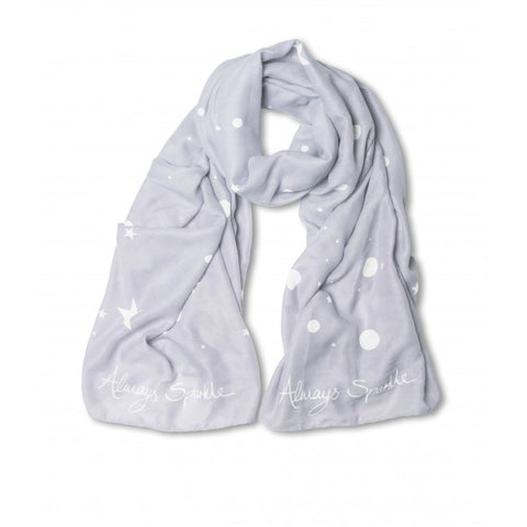 Katie Loxton Scattered Star and Polka Dot Print Scarf - Always Sparkle