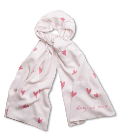 Katie Loxton Love Heart Scarf - Always and Forever