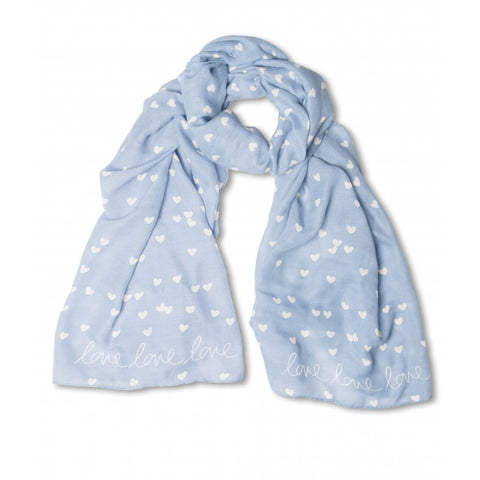 Katie Loxton Scattered Love Heart Print Scarf - Love Love Love