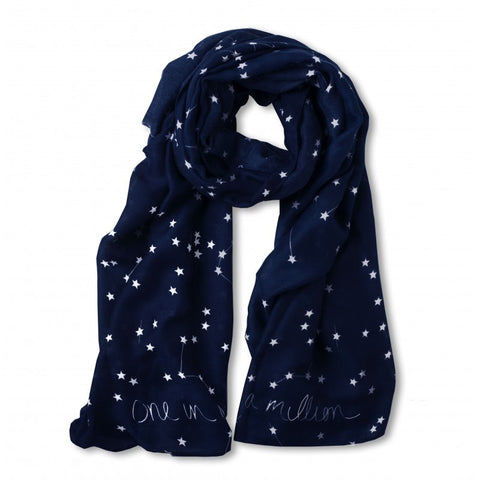Katie Loxton Scattered Star Print Scarf - One In A Million