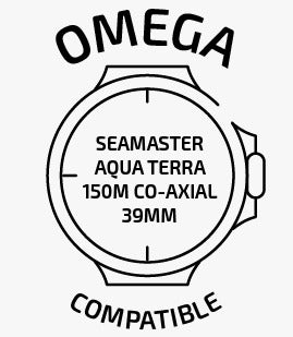 compatible with Omega® Seamaster Aqua Terra 150m Co-Axial Chronometer 39mm