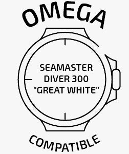 compatible with Omega® Seamaster Diver 300m Great White