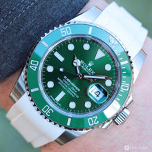 "RUBBER STRAP FOR ROLEX® SUBMARINER WITH DATE ""HULK"" (6 DIGITS)"