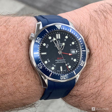 RUBBER STRAP FOR OMEGA® SEAMASTER DIVER 300M CO-AXIAL GMT
