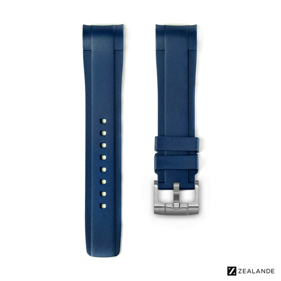 RUBBER STRAP FOR OMEGA® SEAMASTER RAILMASTER CO‑AXIAL 40MM BLUE
