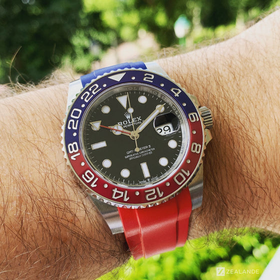 RUBBER STRAP FOR ROLEX® GMT 126710 BLRO (6 DIGITS)