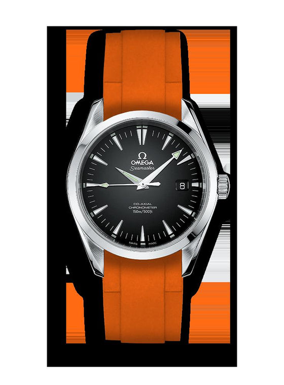 RUBBER STRAP FOR OMEGA® SEAMASTER AQUA TERRA 150M CO-AXIAL CHRONOMETER 39MM