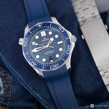 RUBBER STRAP FOR OMEGA® SEAMASTER DIVER 300M CO-AXIAL 42MM BLUE CERAMIC