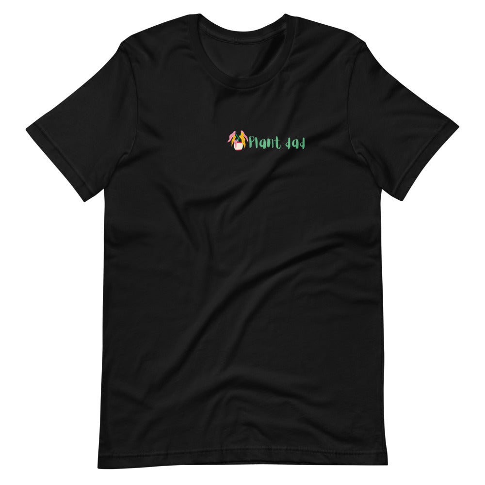 Plant Dad - Short-Sleeve Unisex T-Shirt | Black and White