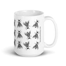 Charger l'image dans la galerie, Bees Pattern | Black and White Mug