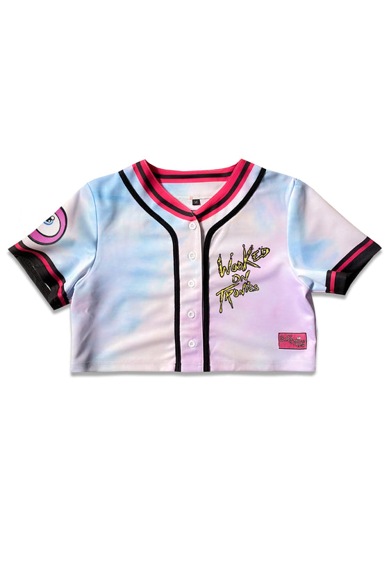 PRE ORDER - Subtronics - Wooked On Tronics - Ladies Crop Baseball Jersey