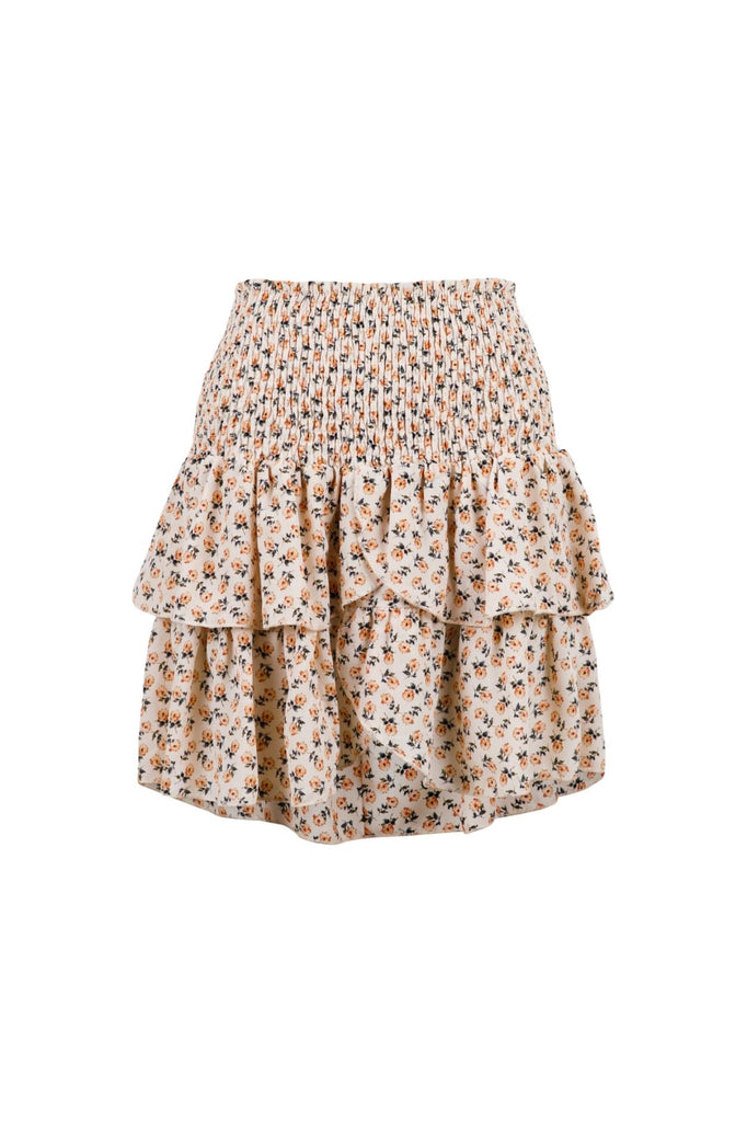Carin Narrow Flower Skirt - L - Skjørt