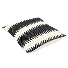 Load image into Gallery viewer, Fluffy B&W stripes Cushion Cover