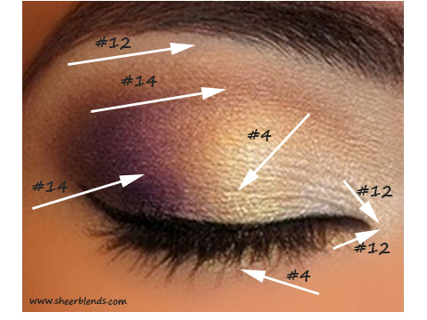 Gold & Purple Smokey Eye, New Year's Eve Party, Sheer Blends, 100% Natural, Vegan & Gluten-Free