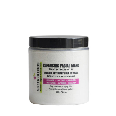Cleansing Facial Mask with Plant Extracts & Clay for Dry, Sensitive or Aging Skin