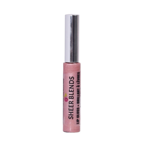 Sheer Blends, Natural, Vegan, Gluten-Free, Cruelty-Free Lip Gloss, Frosted Pink