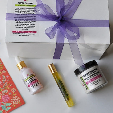 Gift Set - Deep Nourishment Oil Serum, Prickly Pear Seed Oil Roll-On and Cleansing Mask