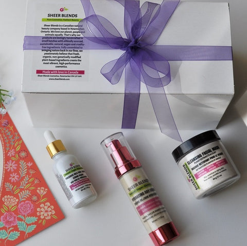 Gift Set - Hydrating Day Cream, Precious Oils Serum and Cleansing Mask - Sheer Blends