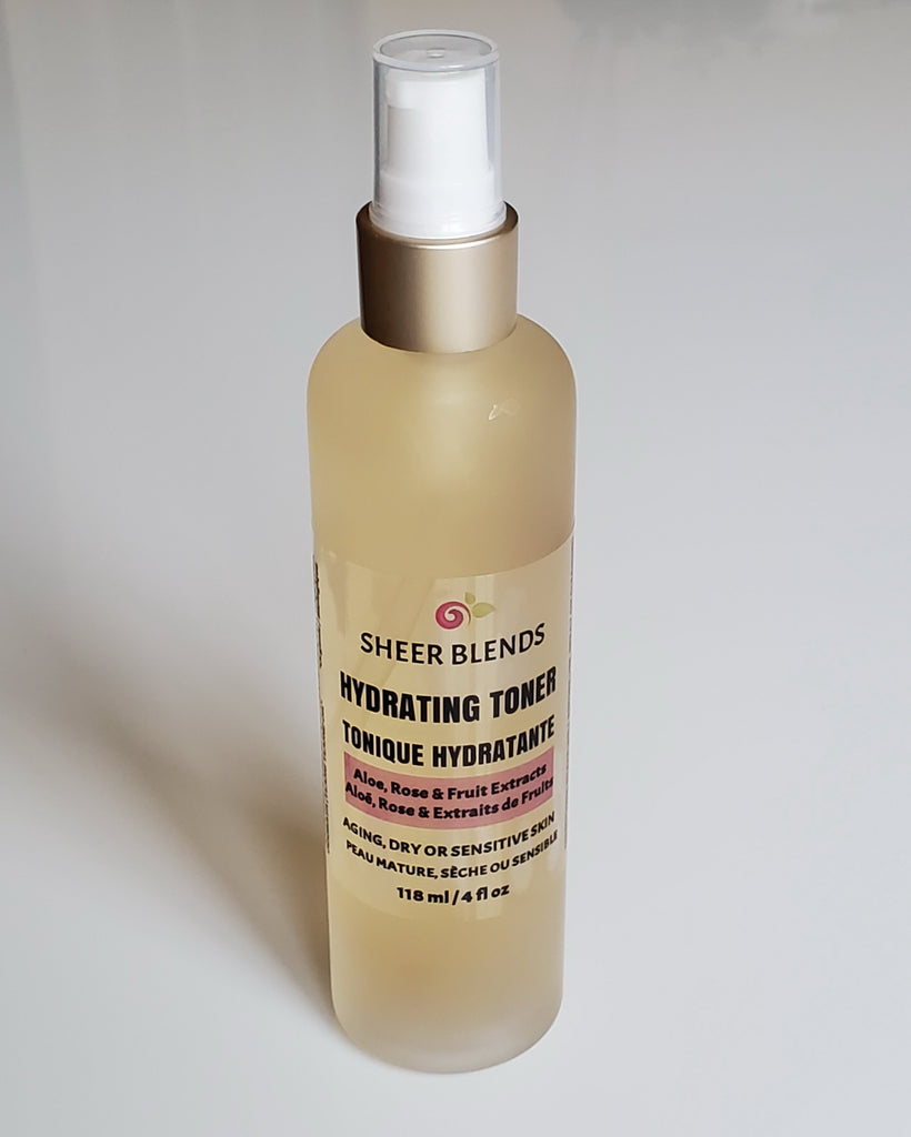 Hydrating Toner - Aloe, Rose & Fruit Extracts - Sheer Blends