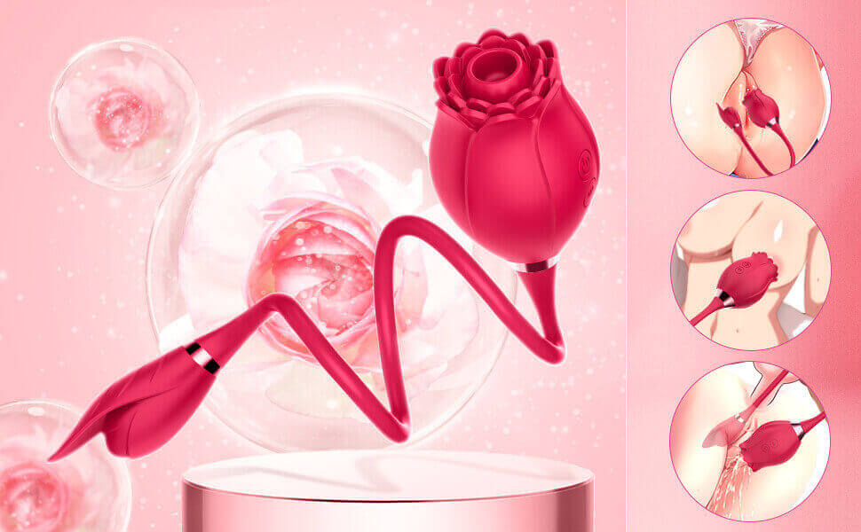 the rose toy with adorime rose vibration