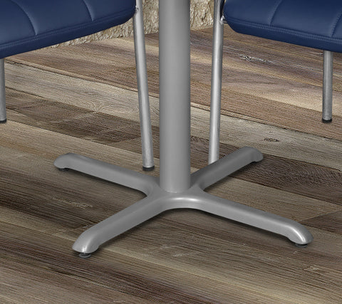 metal x-shaped base for breakroom table