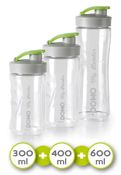 Domo DO492BL - MyBlender Family - 3 drinkbekers - Met receptenboek