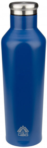 drinkfles dubbelwandig 480 ml RVS blauw