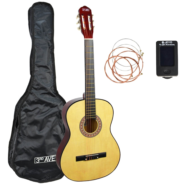 3rd Avenue 3/4 Size Classical Guitar Pack - Natural
