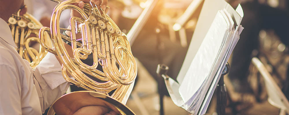 Man Playing French Horn
