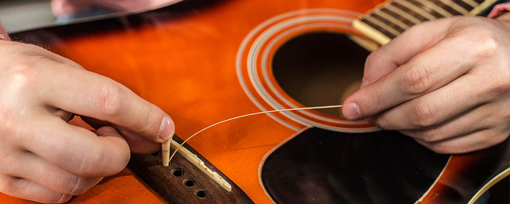 change string on guitar stage 2